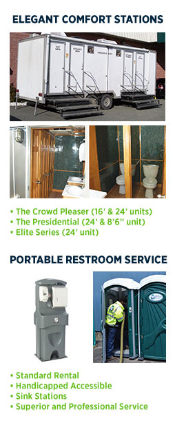 Portable Toilet, when you want it, where you need it, removed when you say so