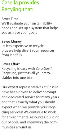 Casella recycling services, made easy.